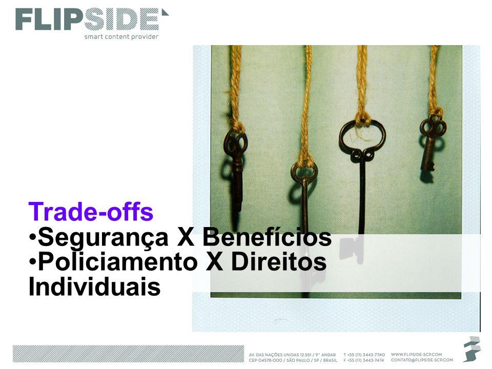Trade-offs Segurança X Benefícios Policiamento X Direitos Individuais