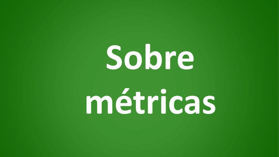 Sobre métricas