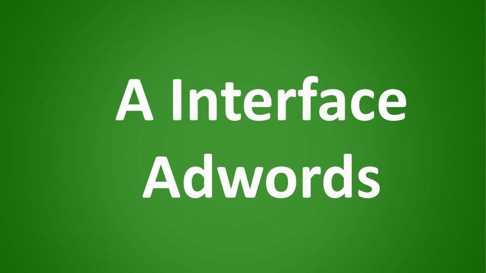 A Interface Adwords
