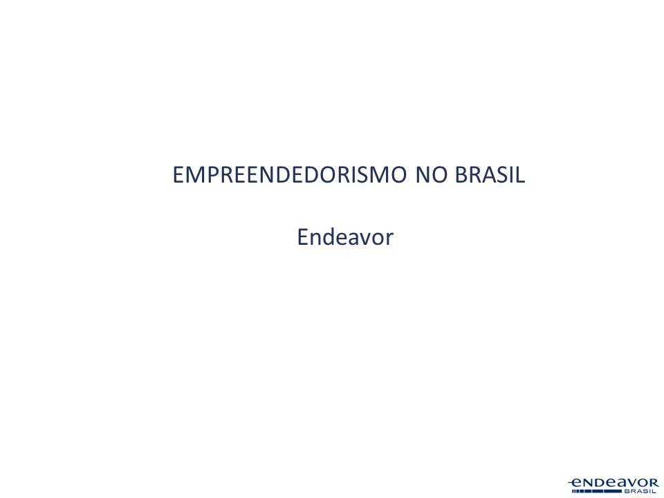 14 PAÍSES 6 ESTADOS NO BR ENDEAVOR MUNDIAL Promove empreendedorismo de alto impacto e o desenvolvimento econômico de países emergentes