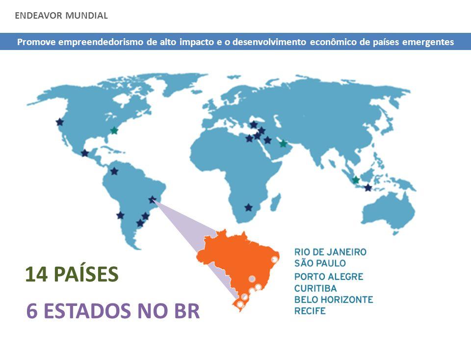 FALTA SONHO GRANDE PARA OS EMPREENDEDORES BRASILEIROS Comparando o Brasil com BRICS, México, Chile e Argentina, nossos empreendedores tem a segunda pior expectativa de alto crescimento - GEM Fonte: Global Entrepreneurship Monitor
