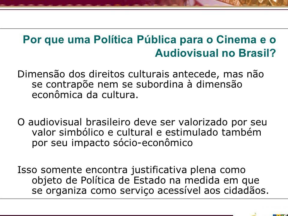 Por que uma Política Pública para o Cinema e o Audiovisual no Brasil? Dimensão dos direitos culturais antecede, mas não se contrapõe nem se subordina