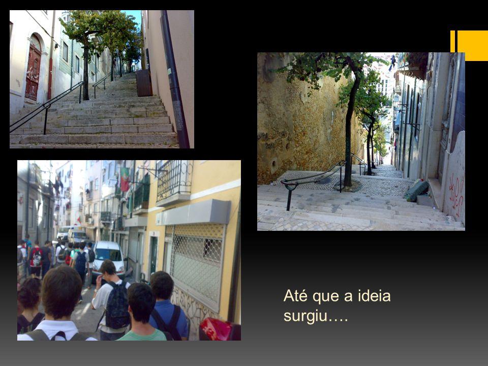 O projecto (introdução) O projecto consiste no fabrico de uma cadeira que se apoie num qualquer corrimão e que permite o descanso e o convívio da população dos bairros lisboetas.