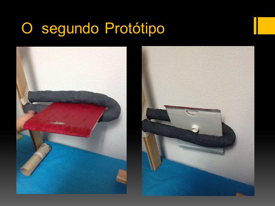 Funcionamento do Protótipo É utilizado um esquema inovador que permite que a cadeira seja dobrável sem precisar de dobradiças.