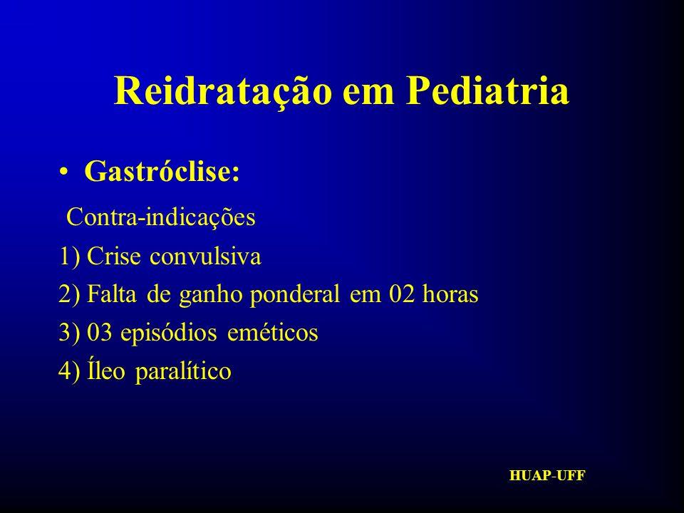 HUAP-UFF Reidratação em Pediatria Hidratação Venosa: VOCABULÁRIO