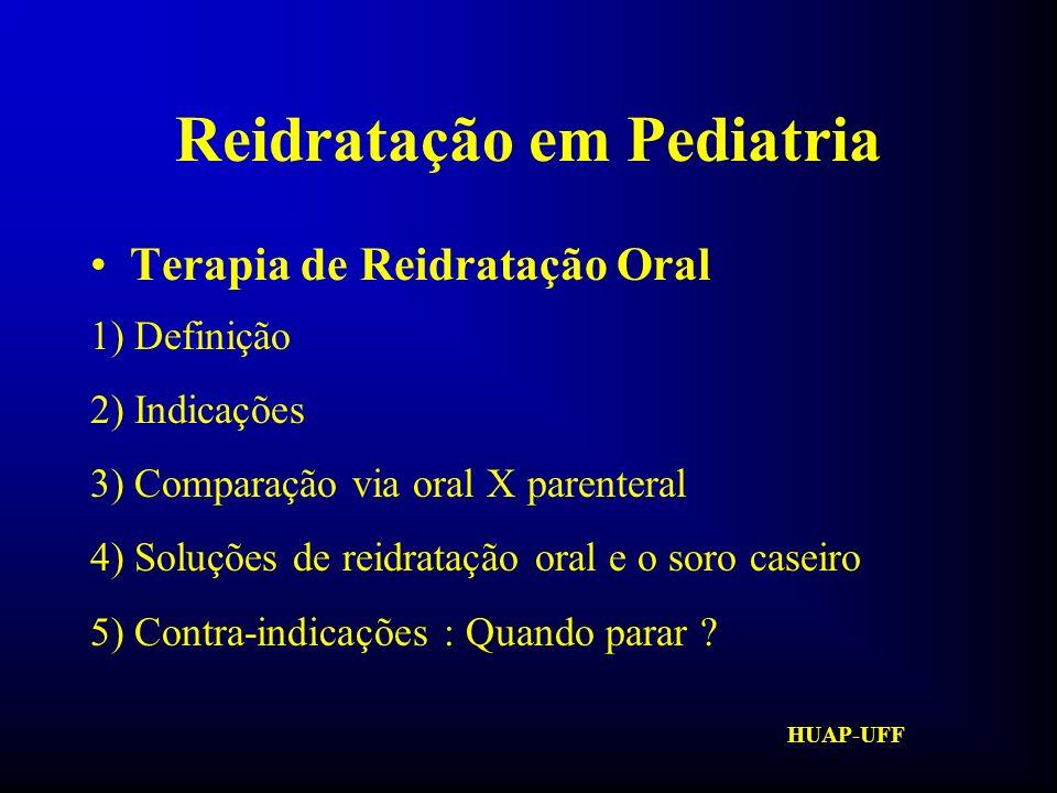 HUAP-UFF Reidratação em Pediatria Composição da S.R.O.