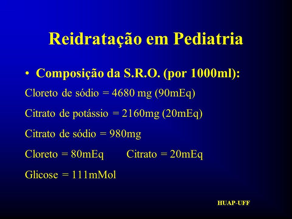 HUAP-UFF Reidratação em Pediatria Como repor .