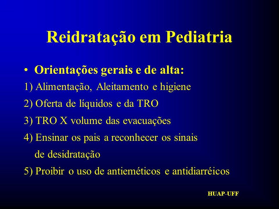 HUAP-UFF Reidratação em Pediatria Contra-indicações à T.R.O.