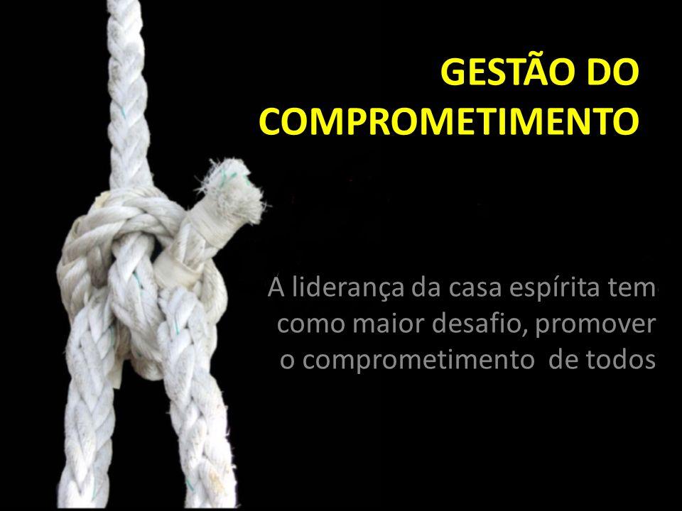 GESTÃO DO COMPROMETIMENTO A liderança da casa espírita tem como maior desafio, promover o comprometimento de todos