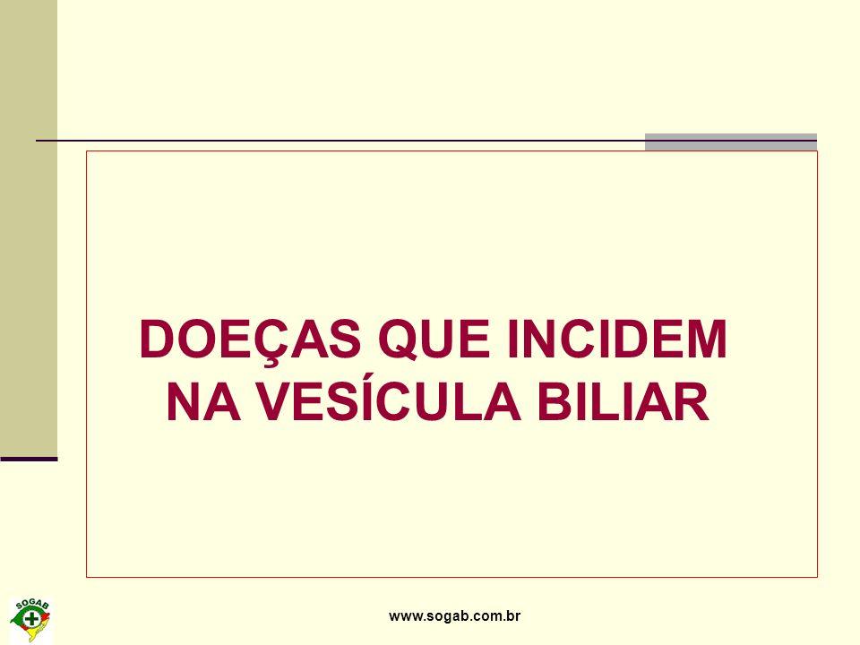 www.sogab.com.br DOEÇAS QUE INCIDEM NA VESÍCULA BILIAR