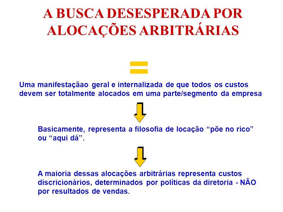 A BUSCA DESESPERADA POR ALOCAÇÕES ARBITRÁRIAS = Uma manifestaçãao geral e internalizada de que todos os custos devem ser totalmente alocados em uma pa