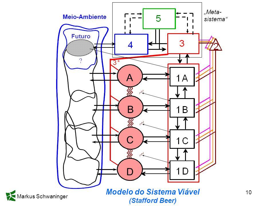 10 2002 Futuro ? Meio-Ambiente A B D C Meta- sistema Modelo do Sistema Viável (Stafford Beer)