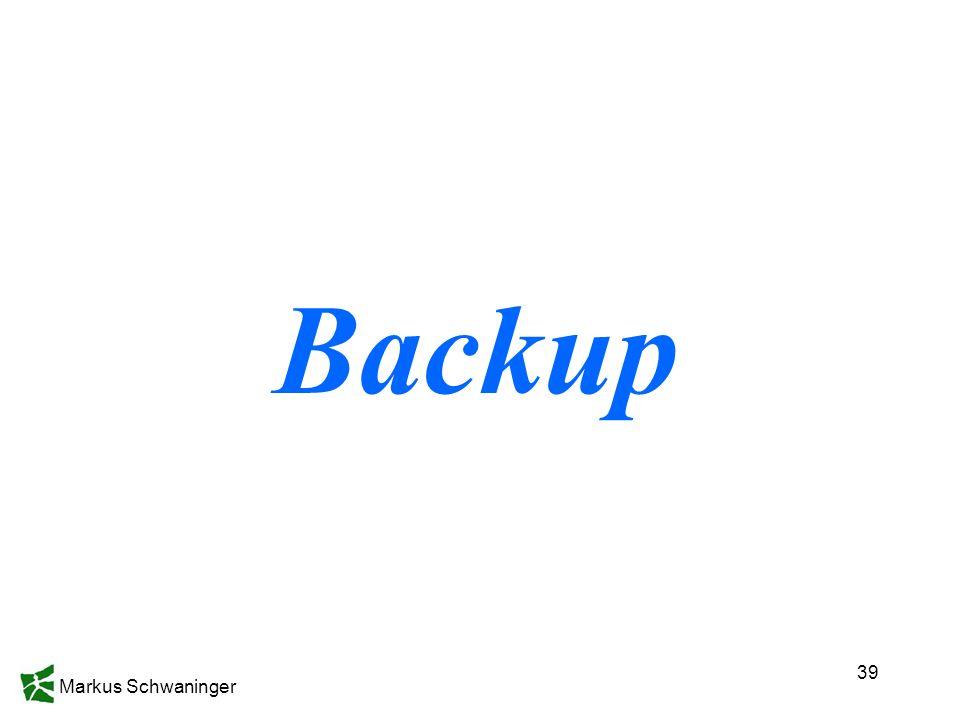 Markus Schwaninger 39 Backup