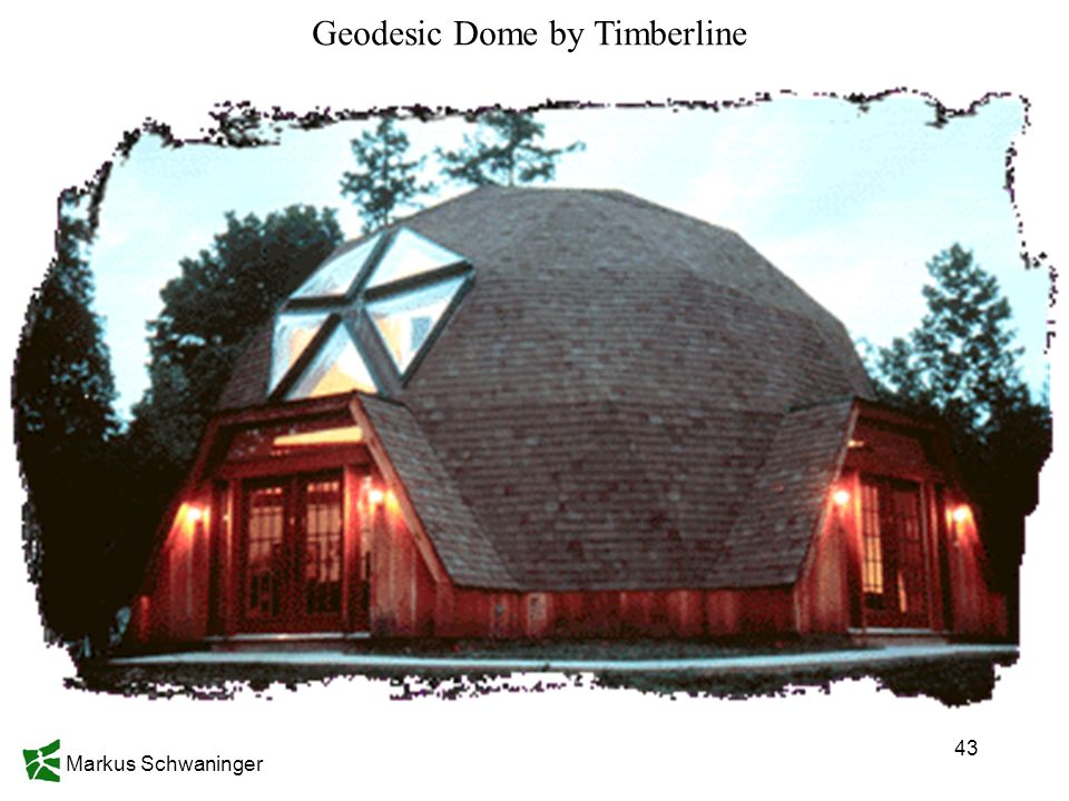 Markus Schwaninger 43 Geodesic Dome by Timberline