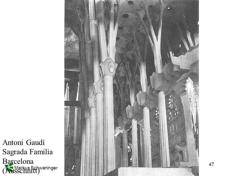 Markus Schwaninger 47 Antoni Gaudí Sagrada Familia Barcelona (Ausschnitt)