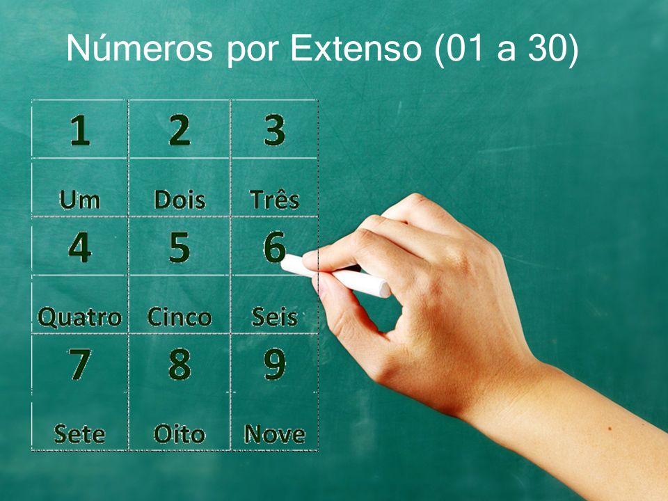 Números por Extenso (01 a 30)