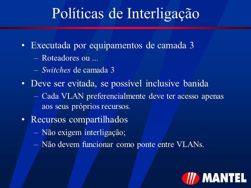 Políticas de Interligação Executada por equipamentos de camada 3 –Roteadores ou...