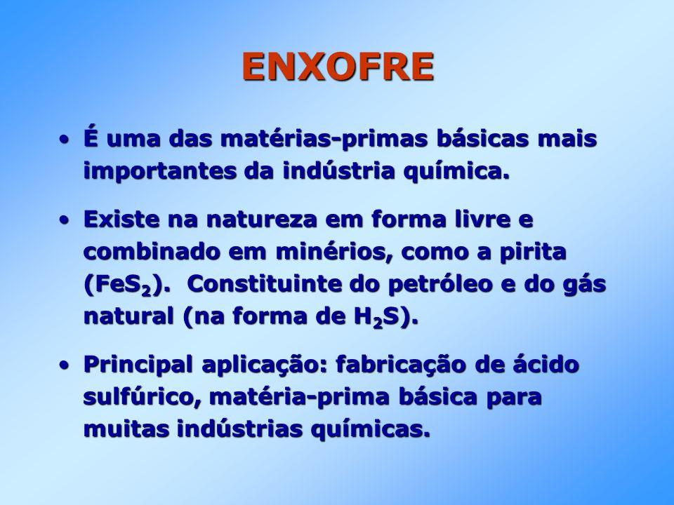 ENXOFRE É uma das matérias-primas básicas mais importantes da indústria química.É uma das matérias-primas básicas mais importantes da indústria químic