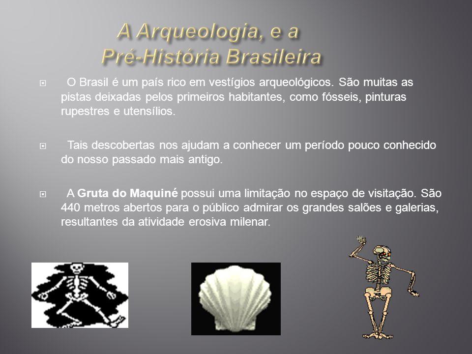 O Brasil é um país rico em vestígios arqueológicos. São muitas as pistas deixadas pelos primeiros habitantes, como fósseis, pinturas rupestres e utens