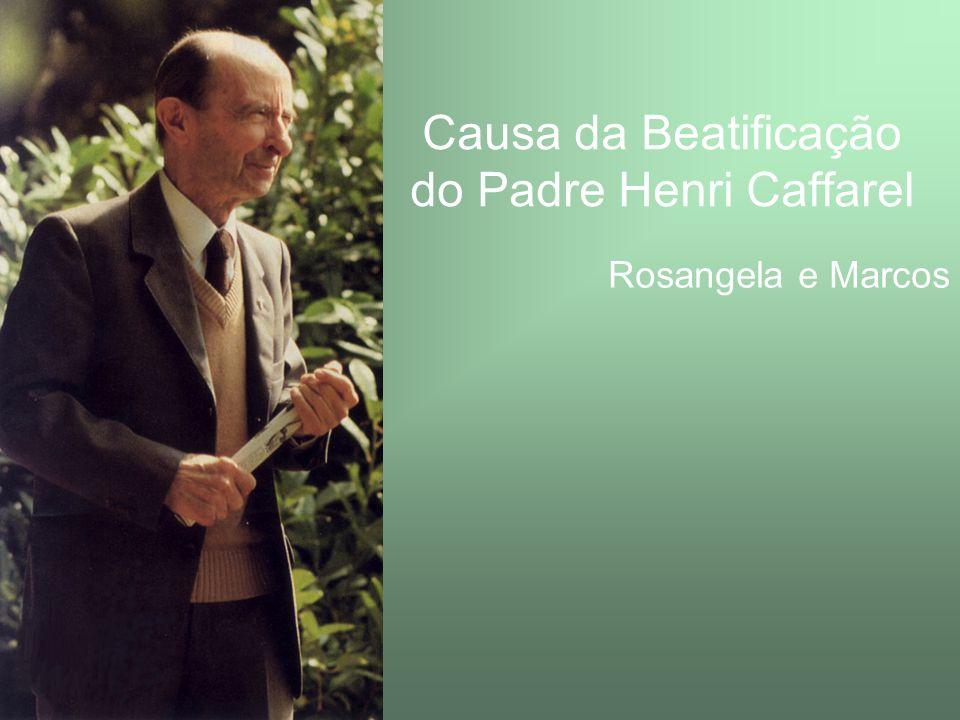 Padre Henri Caffarel Nascimento: 30/07/1903 Falecimento: 18/09/1996 Aos 20 anos teve um Encontro Pessoal com Deus – Aos 20 anos, Jesus Cristo, em um instante, tornou-se Alguém para mim...
