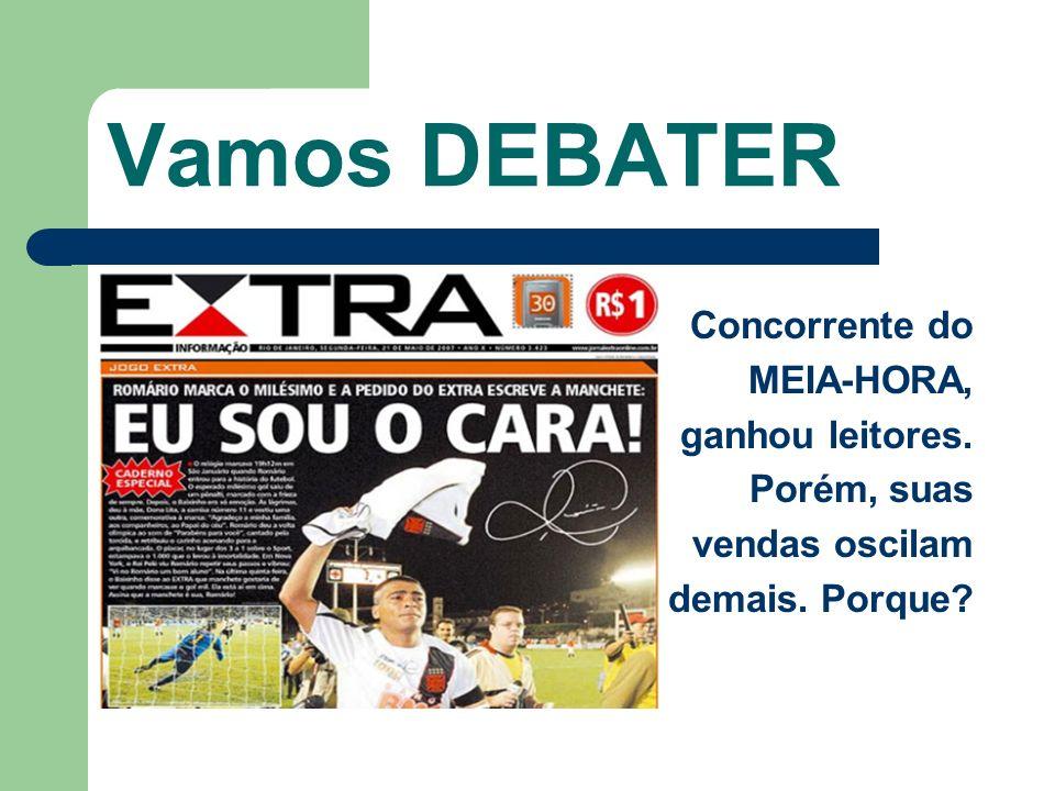 Vamos DEBATER Concorrente do MEIA-HORA, ganhou leitores. Porém, suas vendas oscilam demais. Porque?