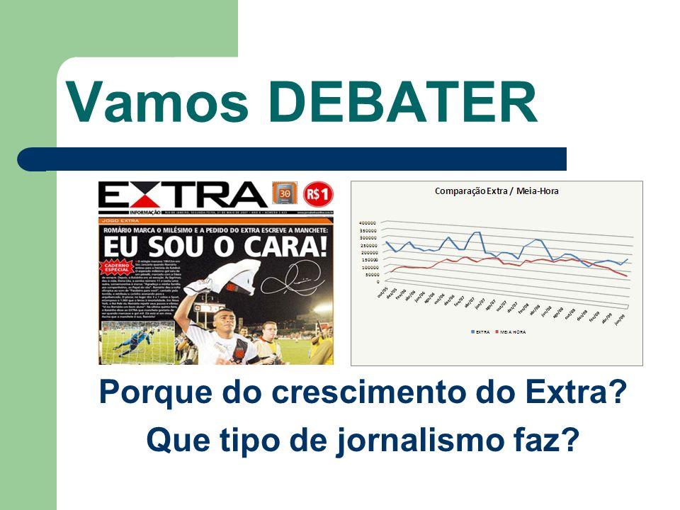 Vamos DEBATER Porque do crescimento do Extra? Que tipo de jornalismo faz?