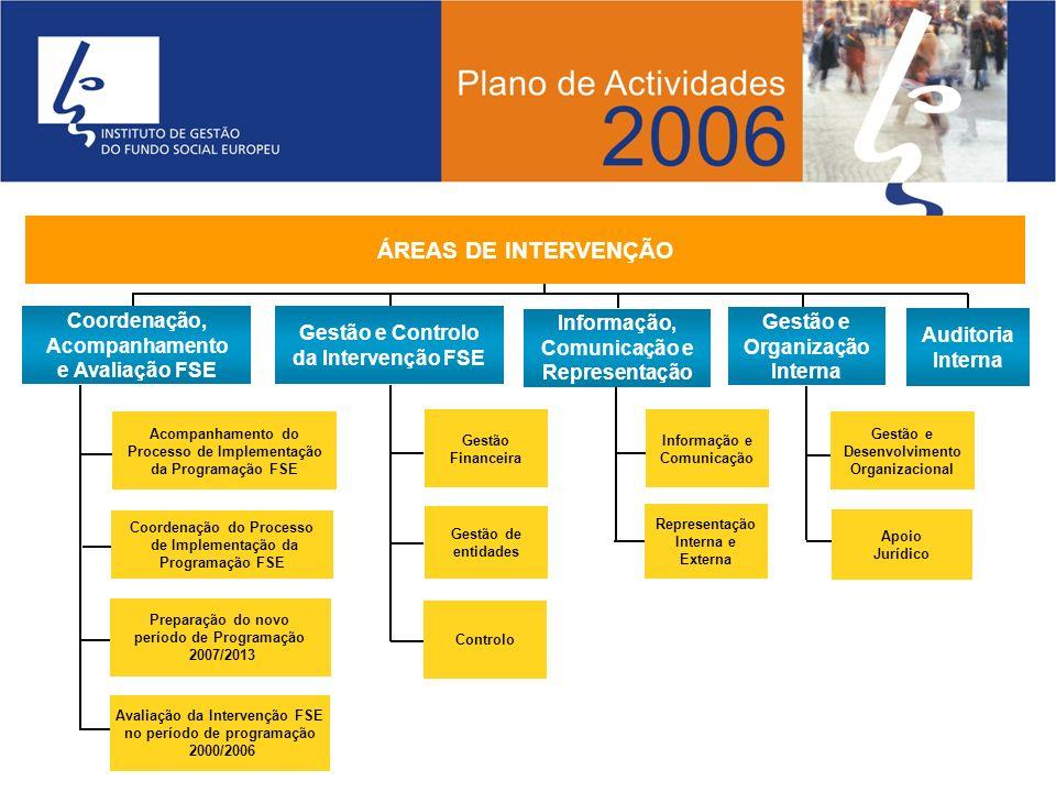 Gestão Financeira Gestão de entidades Controlo Informação e Comunicação Representação Interna e Externa Gestão e Desenvolvimento Organizacional Apoio