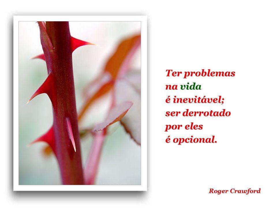 Ter problemas na vida é inevitável; ser derrotado por eles é opcional. Roger Crawford