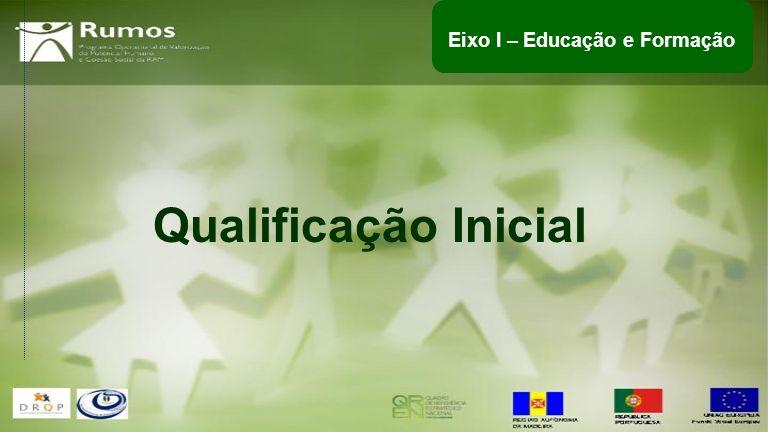 Qualificação Inicial Eixo I – Educação e Formação