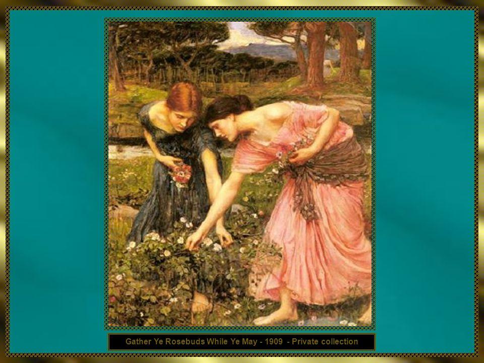 Waterhouse é, muitas vezes, associado aos Pré-Rafaelitas devido ao seu pendor na pintura por Mitologia e História Clássica, influência recebida pelo s