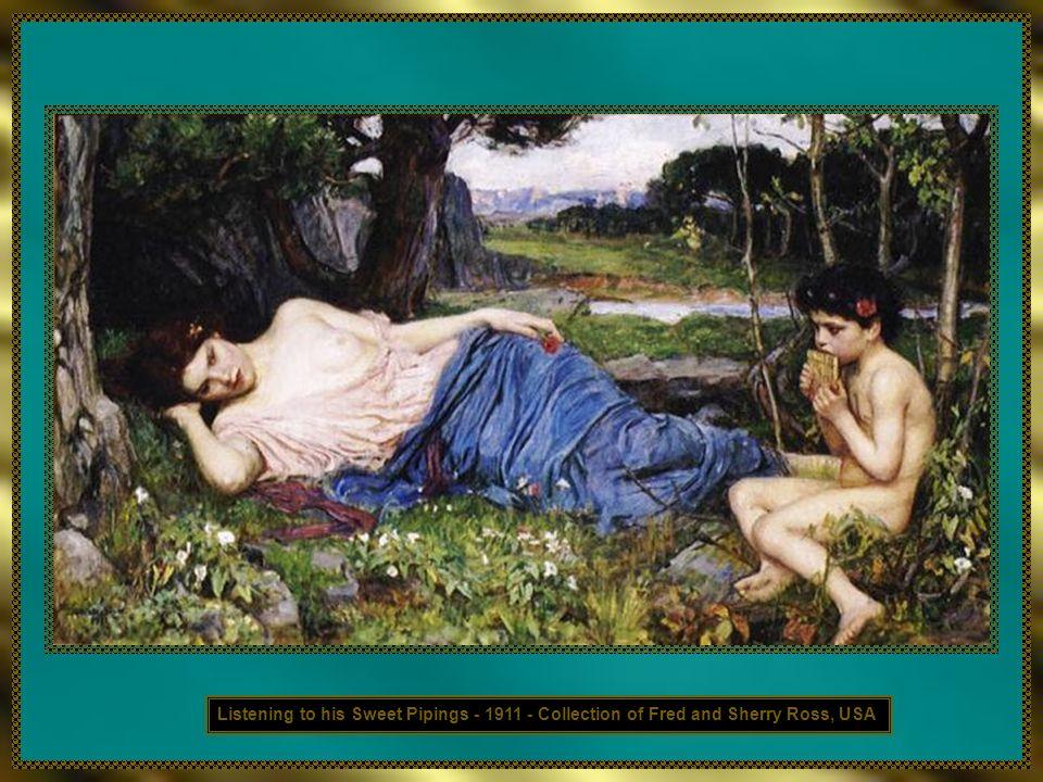 A verdade é que Waterhouse era considerado de tal forma pelo meio artístico que The Enchanted Garden foi exibido postumamente na Academy, mesmo sem nu
