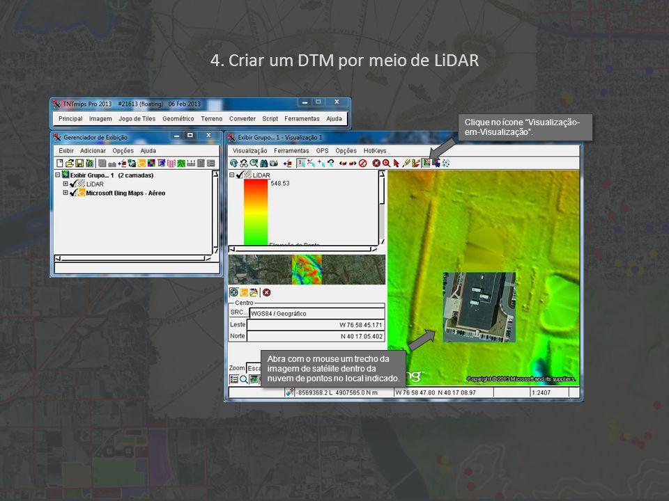 4. Criar um DTM por meio de LiDAR Clique no ícone Visualização- em-Visualização.