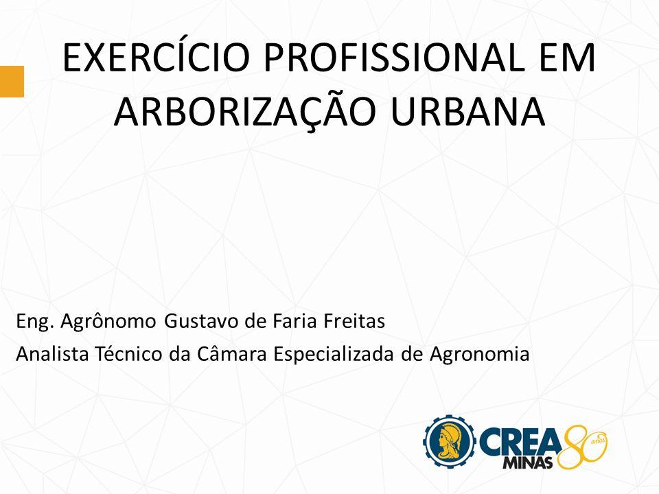 EXERCÍCIO PROFISSIONAL EM ARBORIZAÇÃO URBANA Eng.