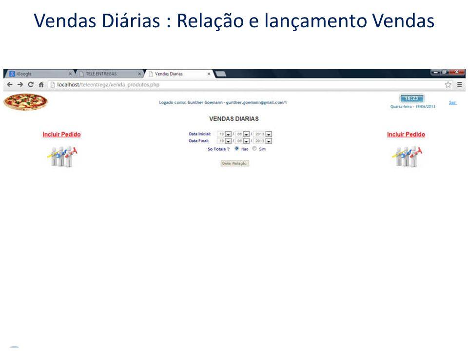 Relatórios de Acompanhamento / Gerenciais Vendas por Produto Identifica as vendas por PRODUTO, podendo ser só TOTAIS: