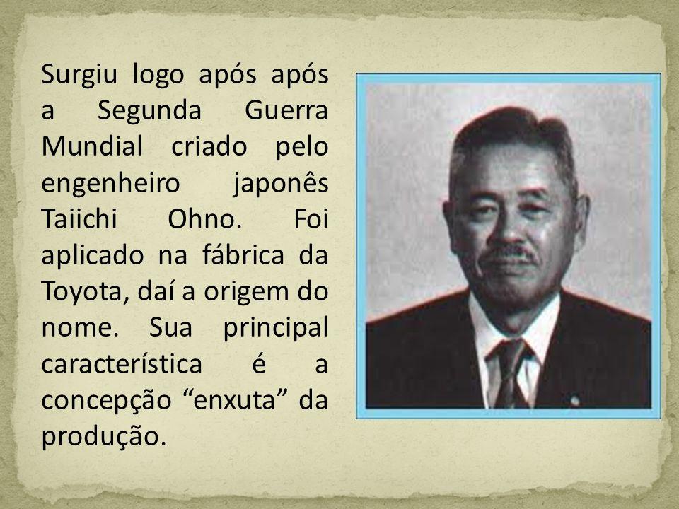 Surgiu logo após após a Segunda Guerra Mundial criado pelo engenheiro japonês Taiichi Ohno. Foi aplicado na fábrica da Toyota, daí a origem do nome. S