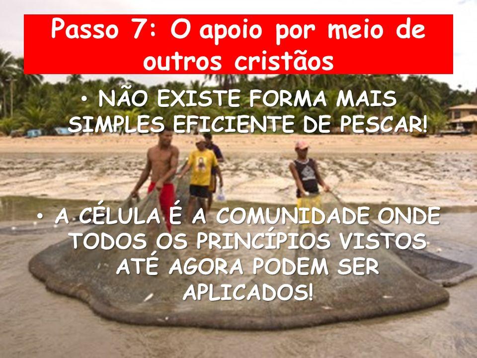 Passo 7: O apoio por meio de outros cristãos NÃO EXISTE FORMA MAIS SIMPLES EFICIENTE DE PESCAR.