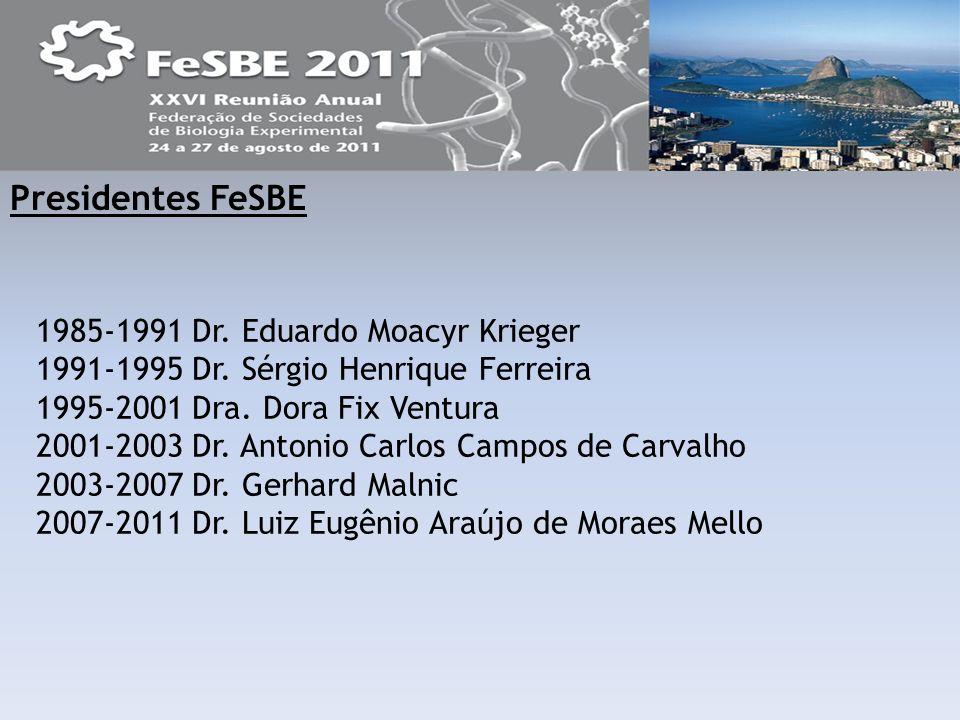 Diretoria da FeSBE Luiz Eugênio Araújo de Moraes Mello Presidente FeSBE Walter Araújo Zin 1º.