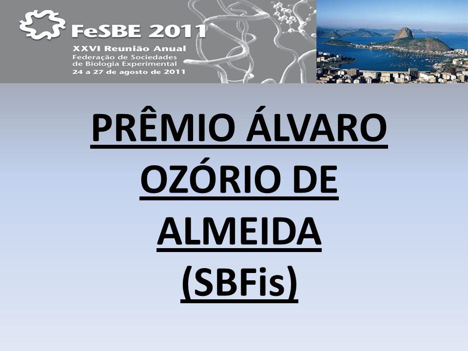 PRÊMIO ÁLVARO OZÓRIO DE ALMEIDA (SBFis)