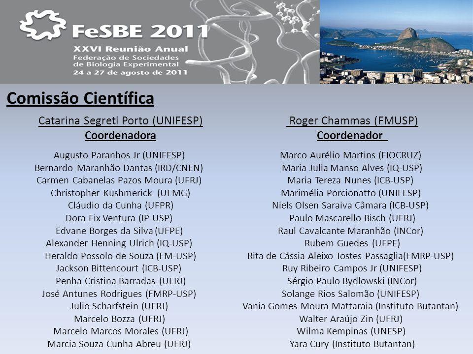 Comissão Científica Augusto Paranhos Jr (UNIFESP) Bernardo Maranhão Dantas (IRD/CNEN) Carmen Cabanelas Pazos Moura (UFRJ) Christopher Kushmerick (UFMG