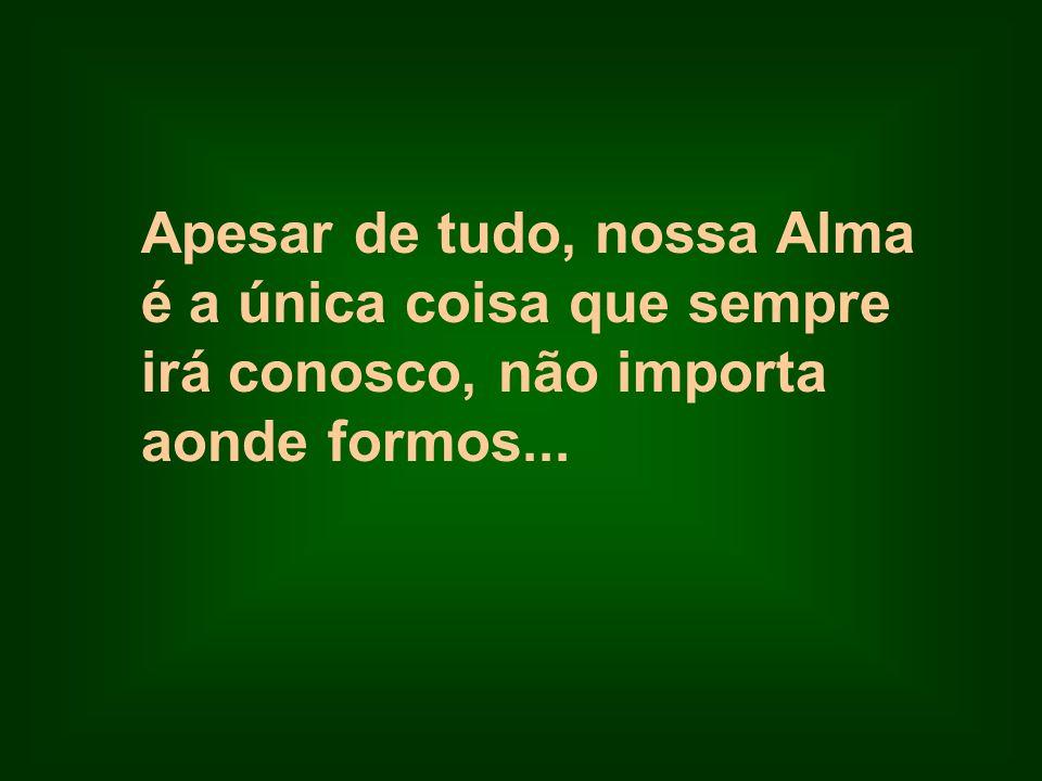 Apesar de tudo, nossa Alma é a única coisa que sempre irá conosco, não importa aonde formos...