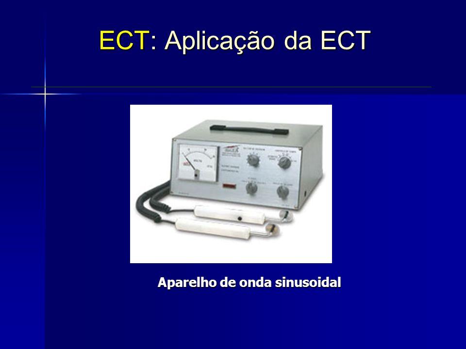 Aparelho de onda sinusoidal ECT: Aplicação da ECT