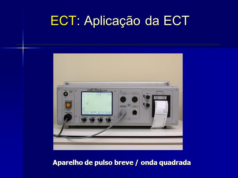 Aparelho de pulso breve / onda quadrada ECT: Aplicação da ECT