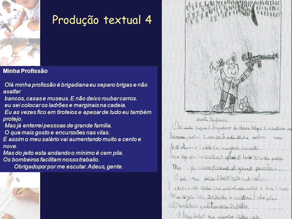Produção textual 5 Minha Profissão Eu vou ser instrutor de auto escola.