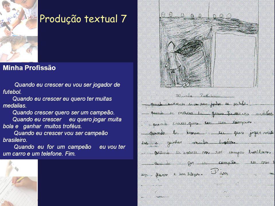 Produção textual 8 Minha Profissão Minha Profissão é jogador de futebol.