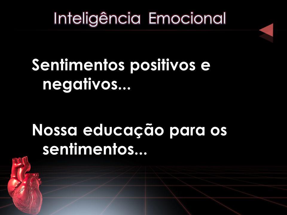 Sentimentos positivos e negativos... Nossa educação para os sentimentos...