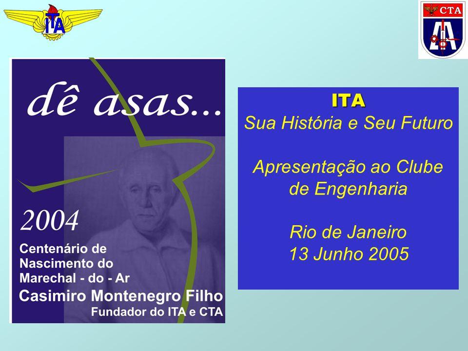 ITA ITA Sua História e Seu Futuro Apresentação ao Clube de Engenharia Rio de Janeiro 13 Junho 2005