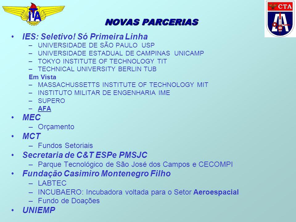 NOVAS PARCERIAS IES: Seletivo! Só Primeira Linha –UNIVERSIDADE DE SÃO PAULO USP –UNIVERSIDADE ESTADUAL DE CAMPINAS UNICAMP –TOKYO INSTITUTE OF TECHNOL
