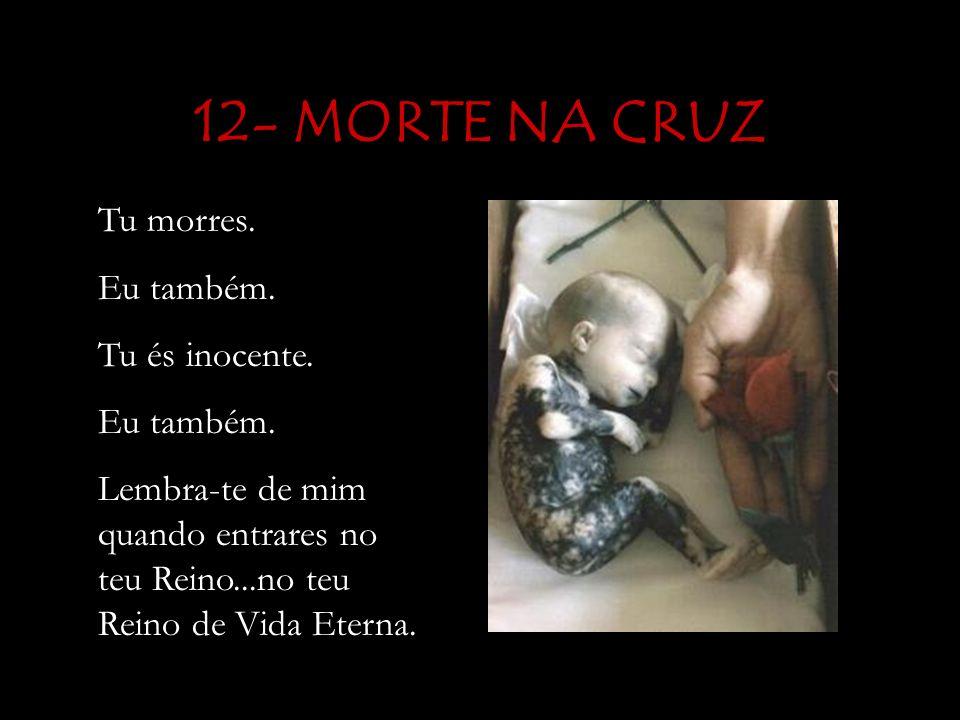12- MORTE NA CRUZ Tu morres.Eu também. Tu és inocente.