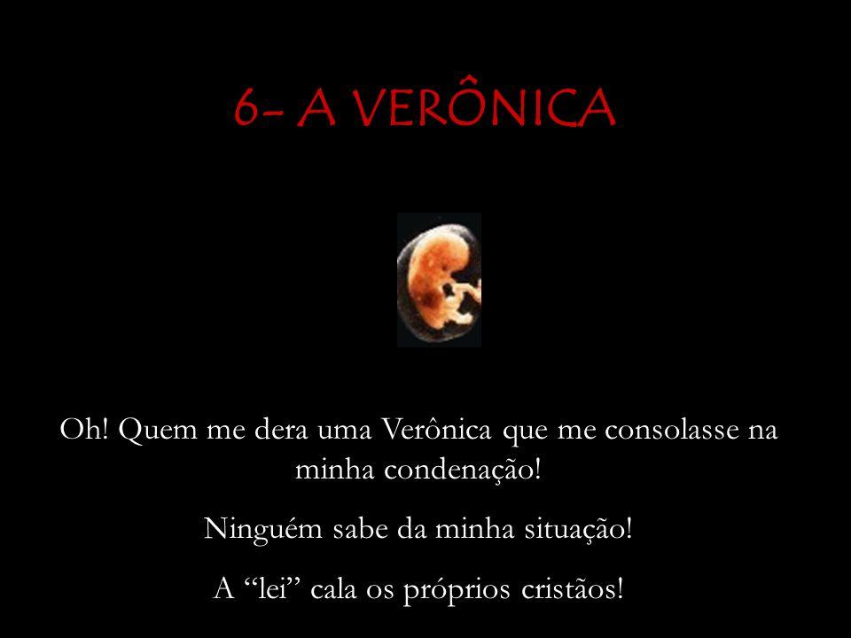 6- A VERÔNICA Oh.Quem me dera uma Verônica que me consolasse na minha condenação.