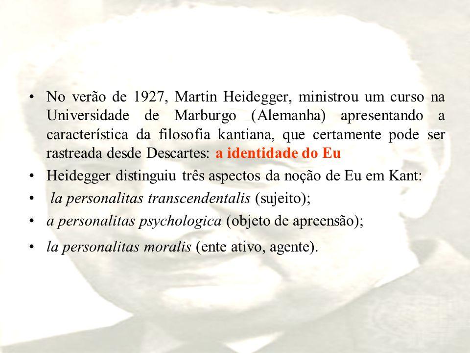 No verão de 1927, Martin Heidegger, ministrou um curso na Universidade de Marburgo (Alemanha) apresentando a característica da filosofia kantiana, que
